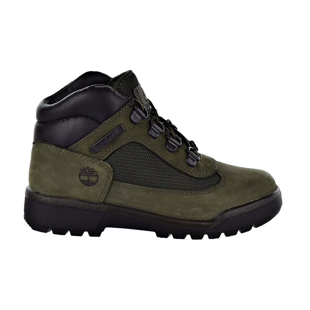 Timberland Field Boot L/F Mid Little Kids Shoes Dark Green