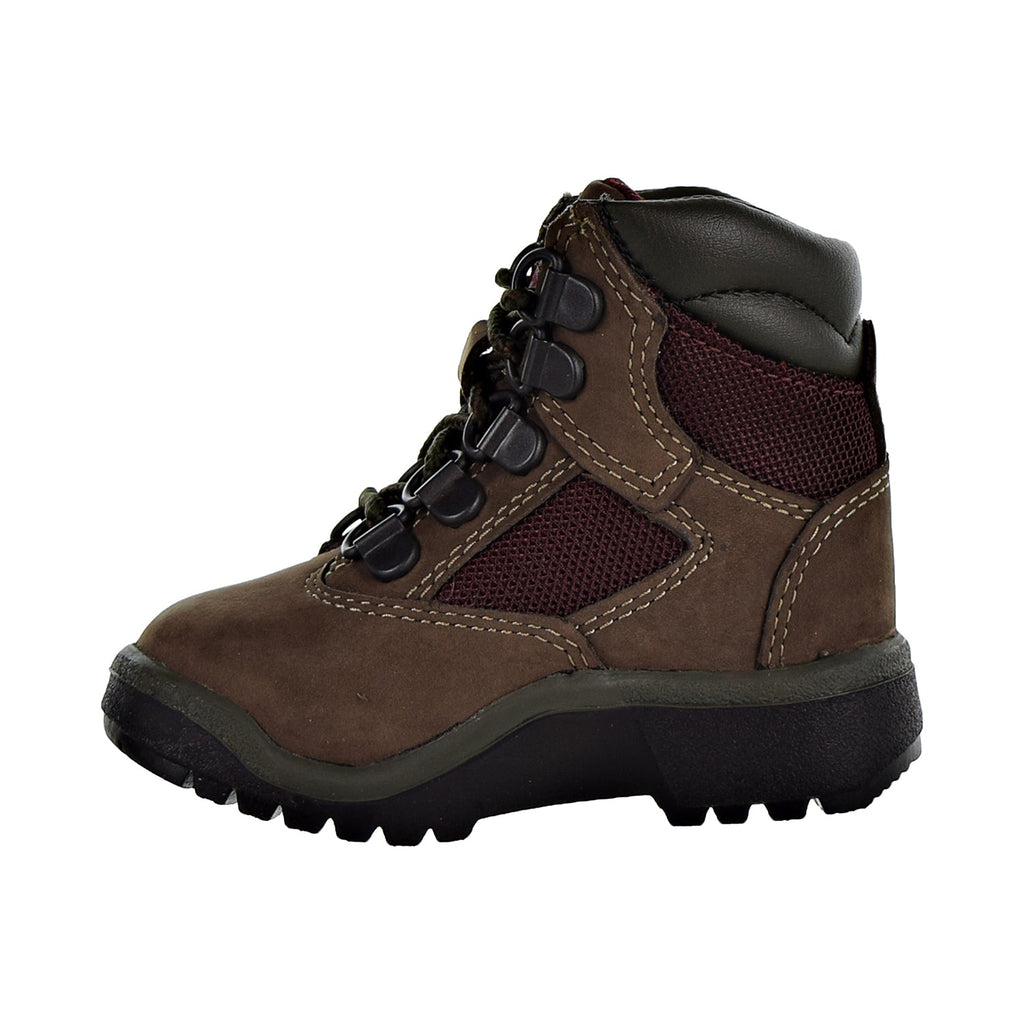 "Timberland 6"" Field Boot L/F Toddler's Shoes Dark Brown"