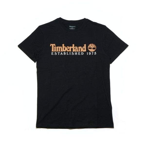 Timberland Men's Short Sleeve Core Established Tee Black-Wheat
