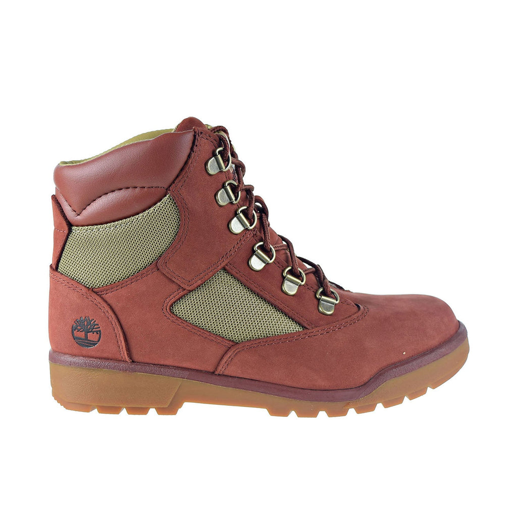Timberland Big Kids' 6-Inch Field Boots Shoes Rust Nubuck