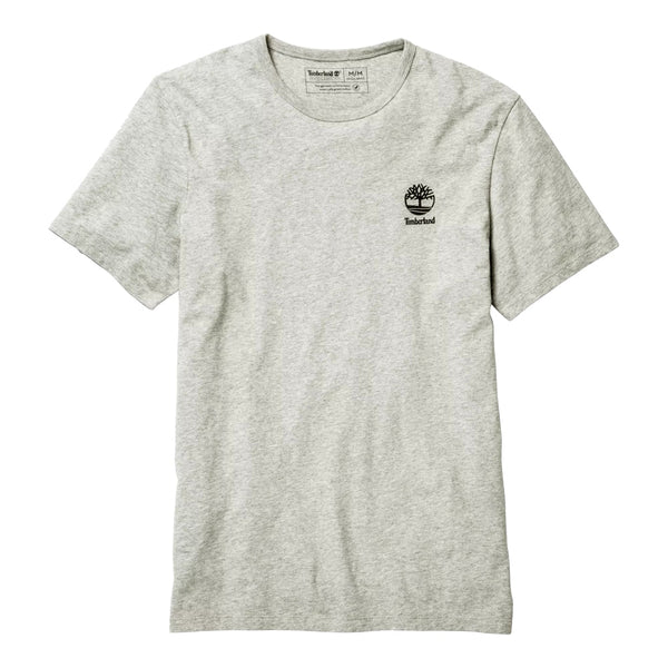 Timberland Men's Short Sleeve Box Logo Graphic Tee Grey-Black