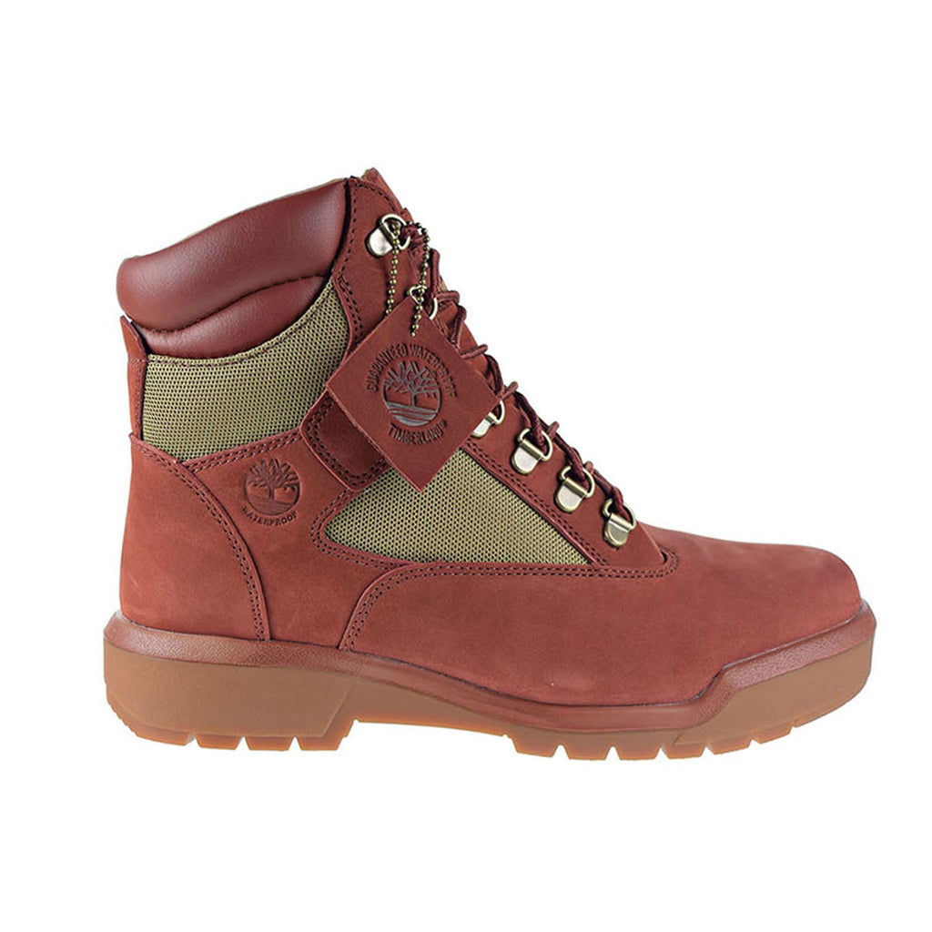 Timberland Waterproof 6-Inch Men's Field Boots Rust Nubuck