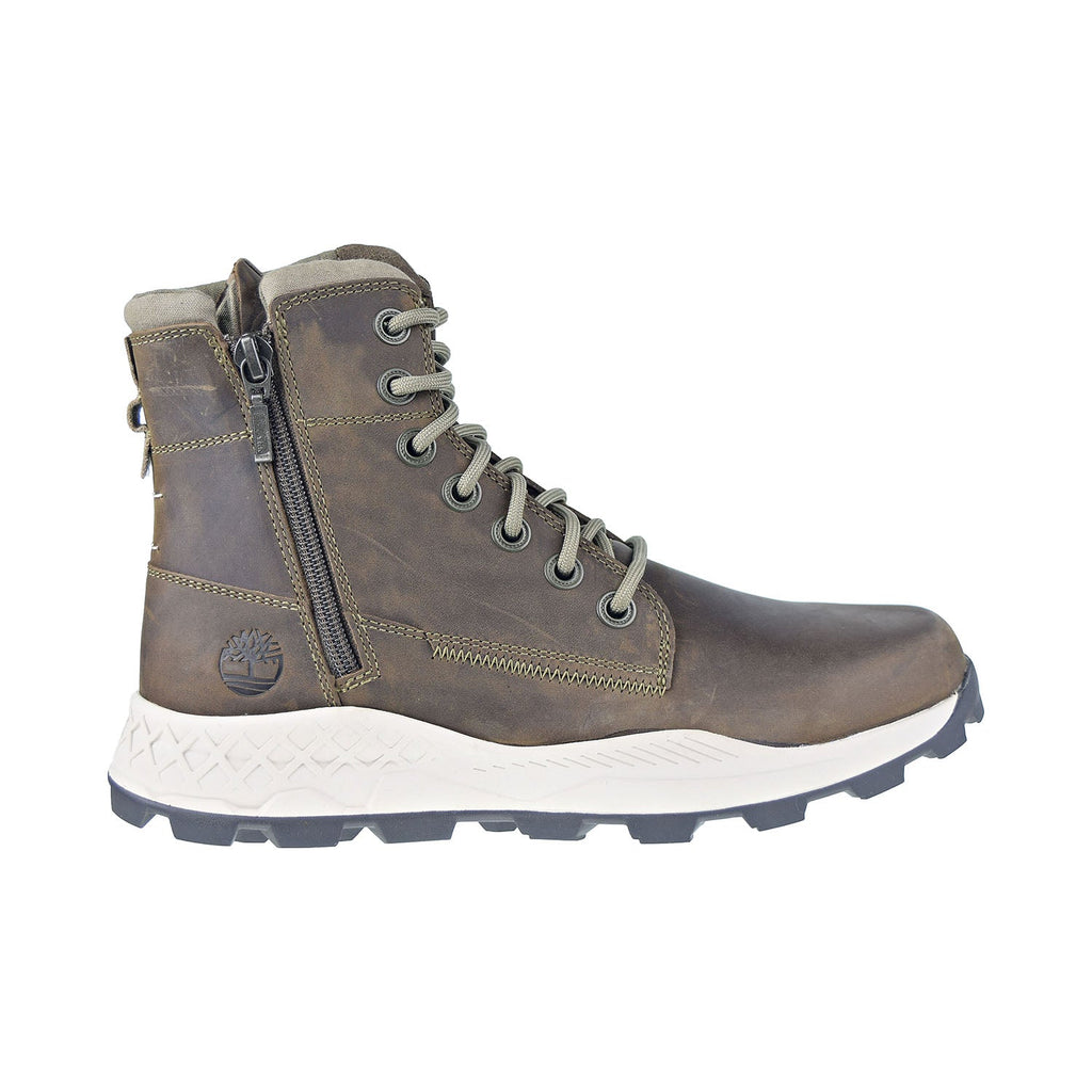 Timberland Brooklyn Side-Zip Men's Boots Olive Full Grain