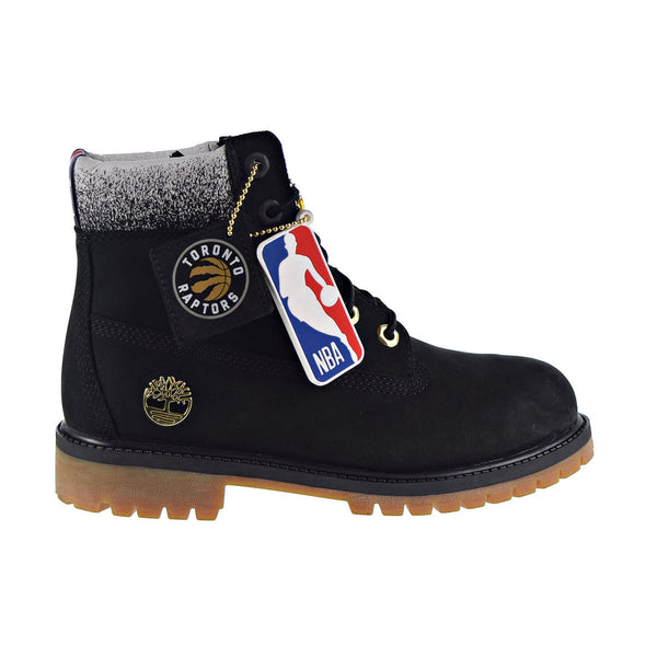 Timberland Toronto Raptors 6-Inch Premium Waterproof Big Kids' Boot Black Nubuck