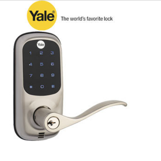 Nickel Touch Screen Lever Lock