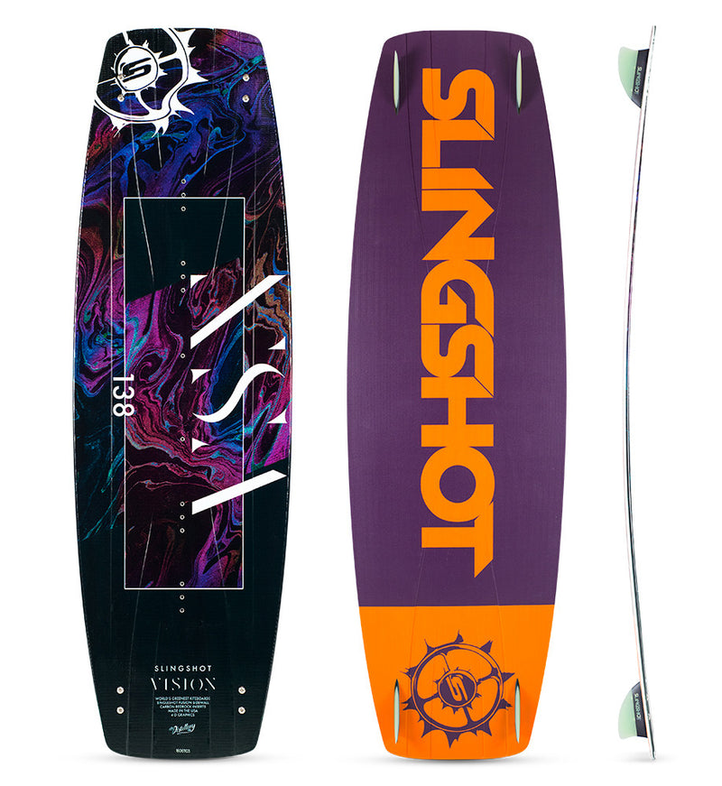 slingshot vision kiteboard freestyle twin tip 138 136 140