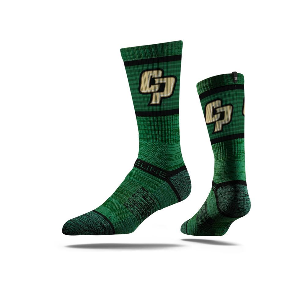 California Polytechnic State University Green Crew Socks