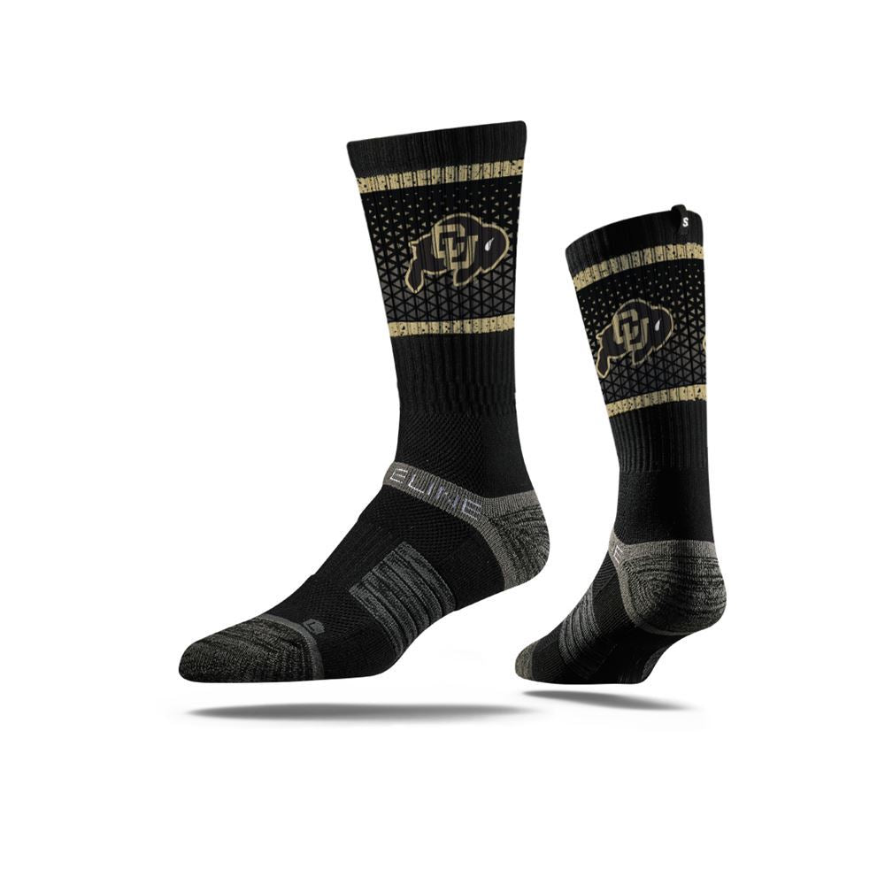 University of Colorado Buffaloes Black Logo Crew Socks