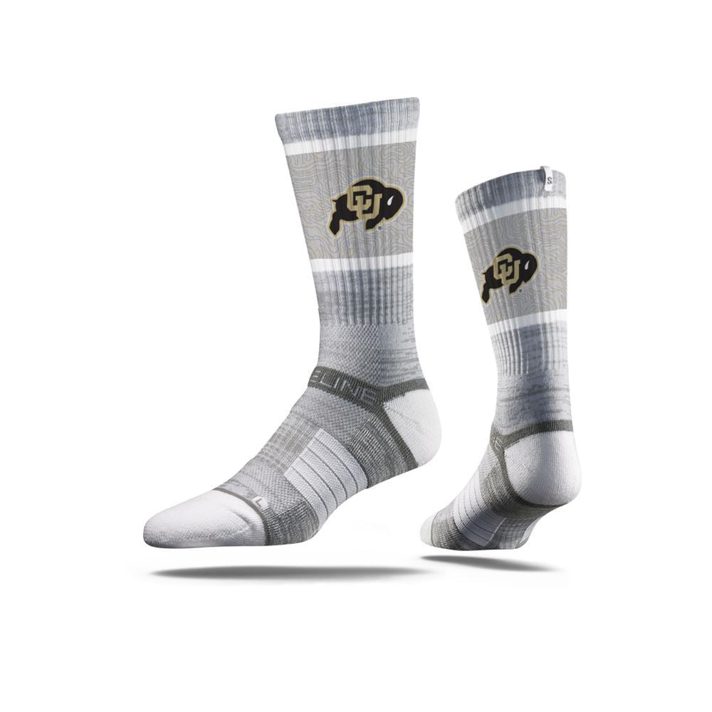 University of Colorado Buffaloes Grey Logo Crew