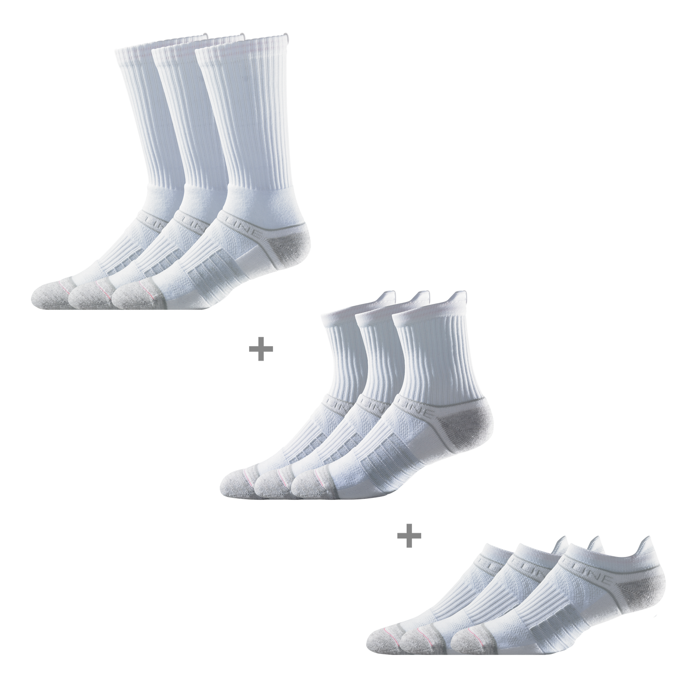 Men's White Super Bundle (9 pairs)