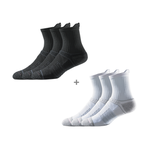 Men's Mid Black & White Bundle (6 Pairs)