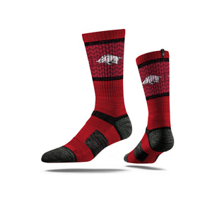 Arkansas Razorbacks Crimson Crew Socks