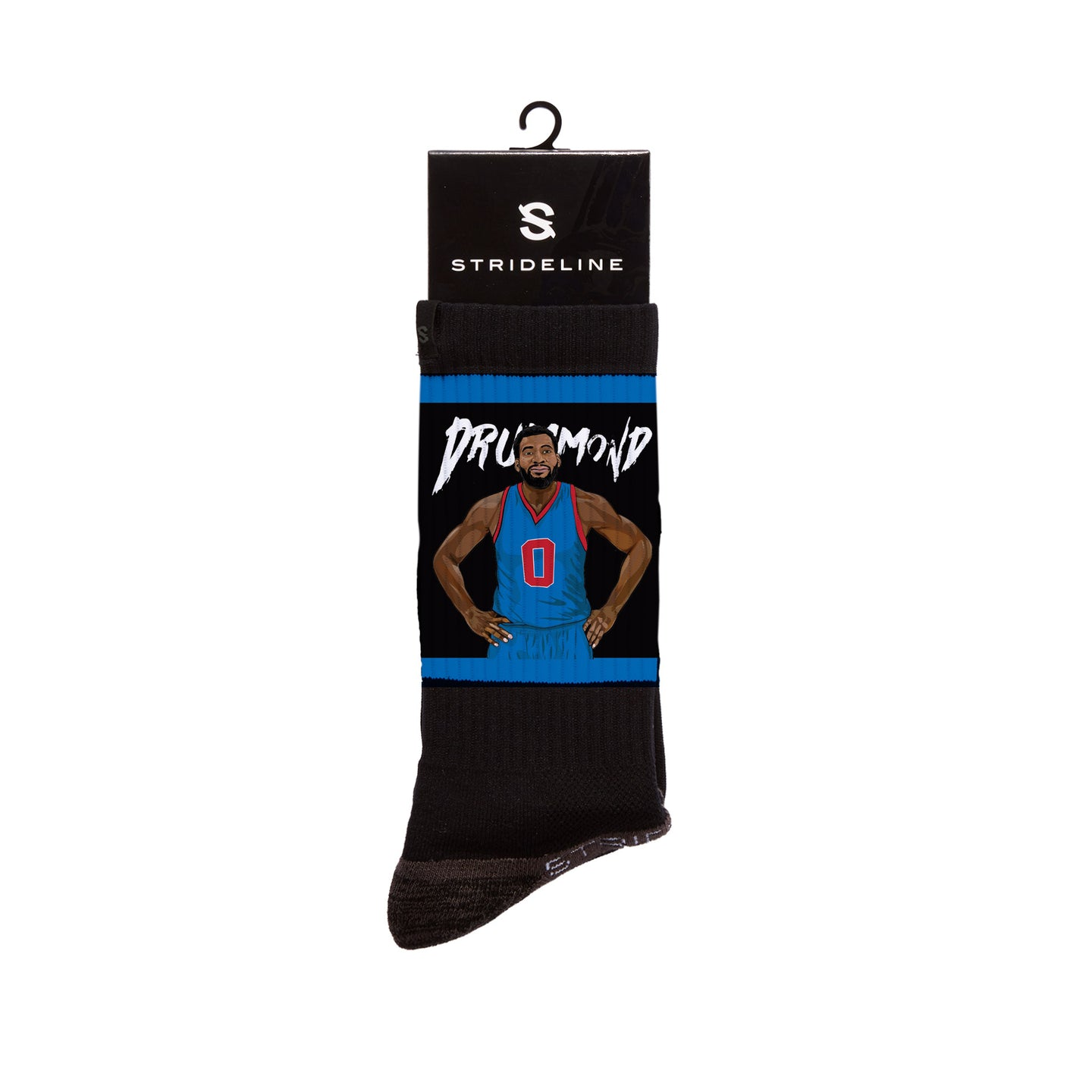 Andre Drummond Double Double Black Crew Socks
