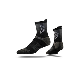 Black/Silver Cement (Mid) Socks