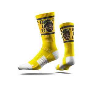 Ben Roethlisberger Game Face Yellow Crew Socks