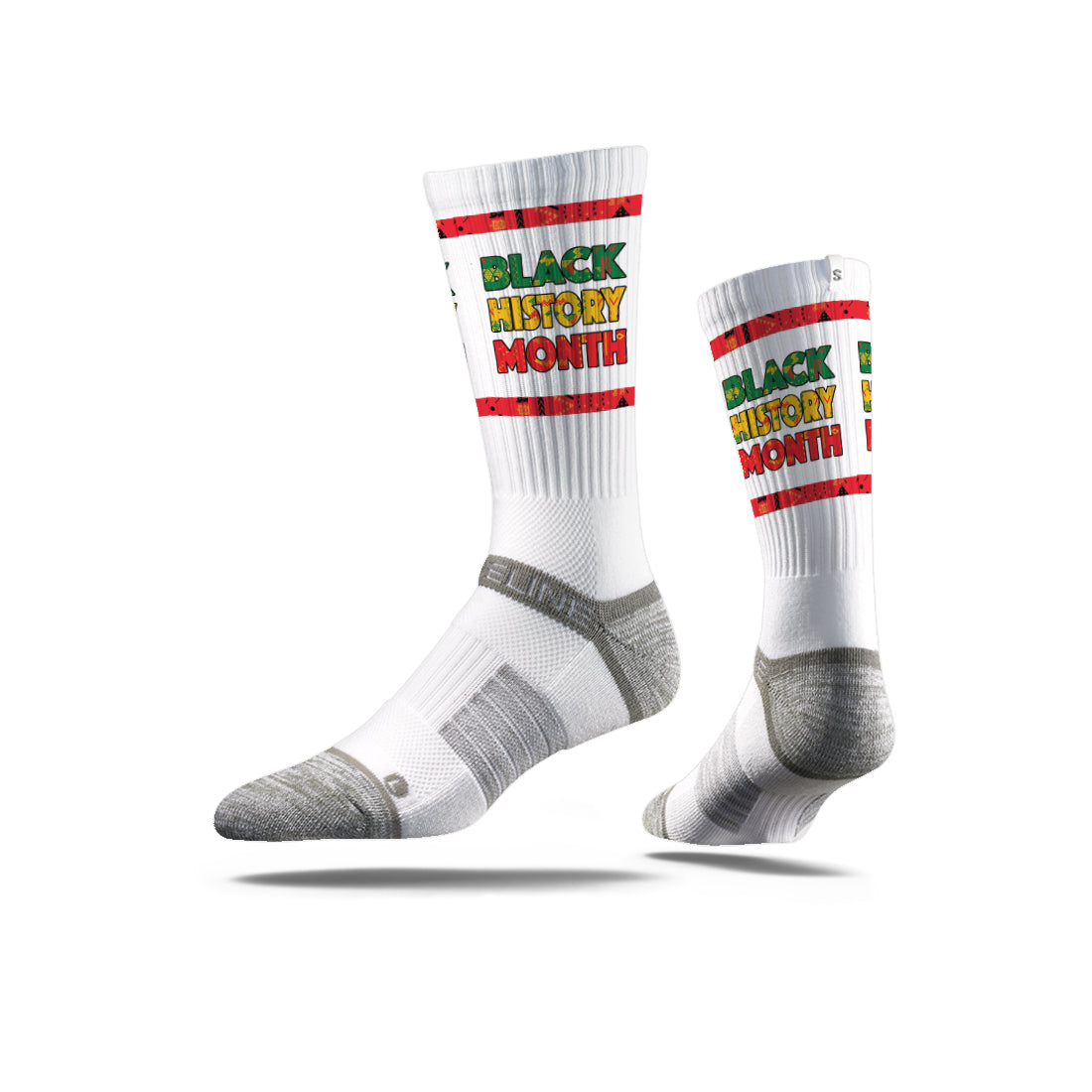 Nate Rob BHM Multicolor White Socks