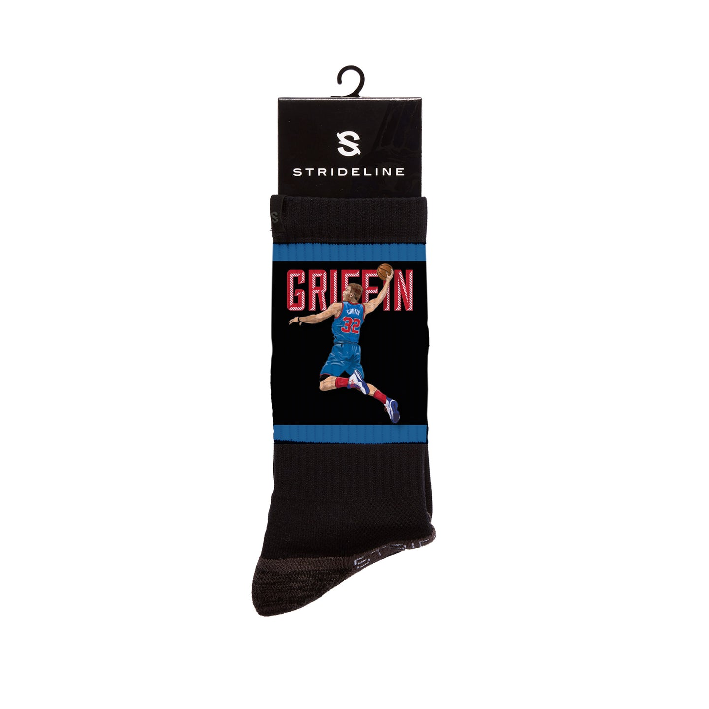 Blake Griffin Dunk Black Crew Socks
