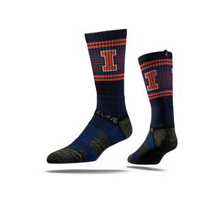 Illinois Fighting Illini Navy Crew Socks