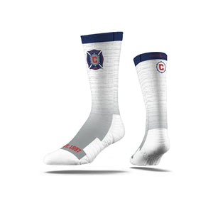 Chicago Fire Heather White Socks
