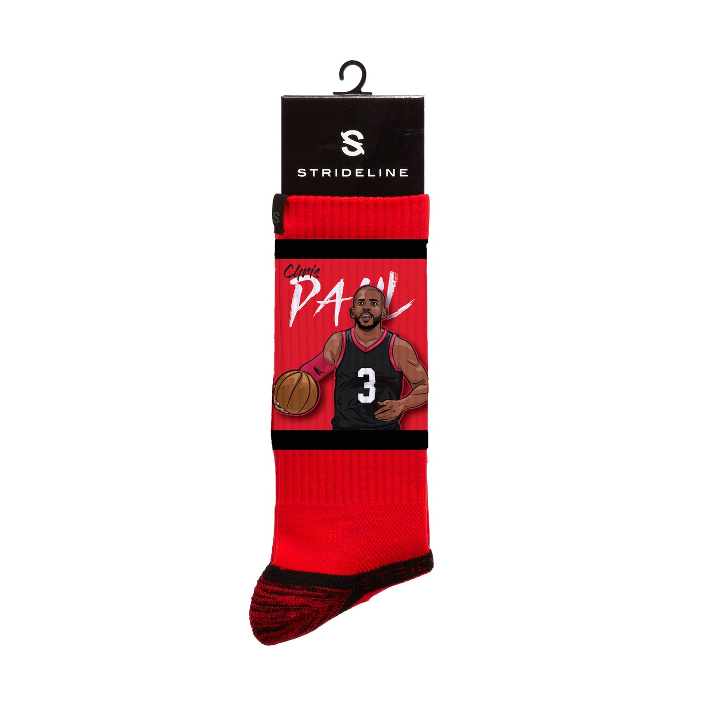 Chris Paul PG Red Crew Socks
