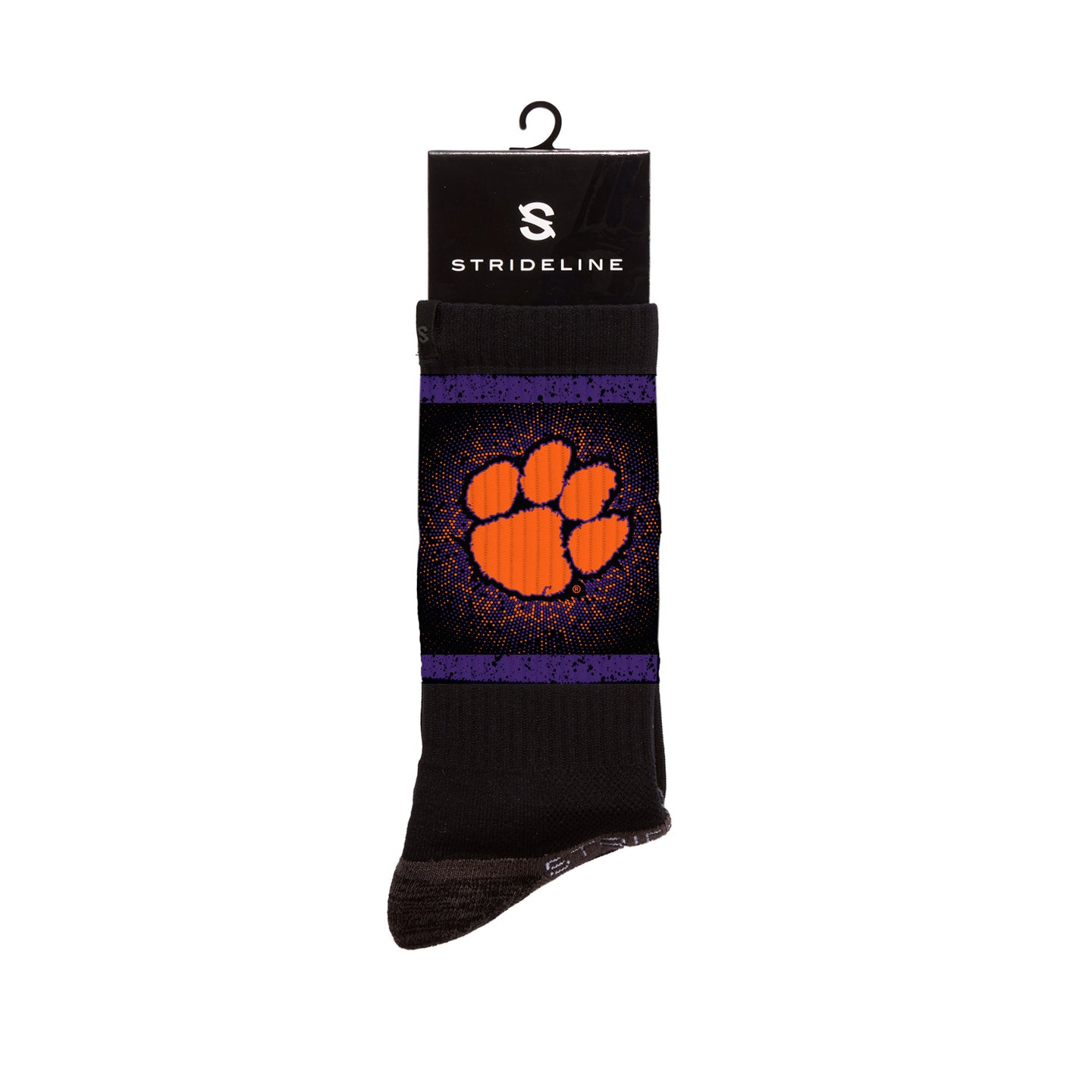 Clemson Tigers Vortex Black Socks