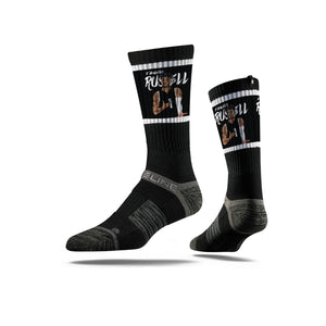 D'Angelo Russell Ice Black Crew Socks