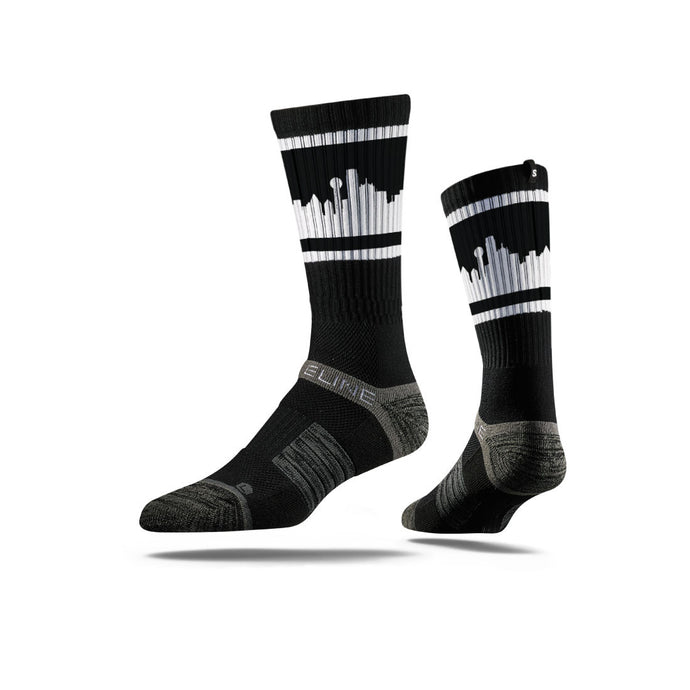 Dallas City Skyline Retro Black Full Photo