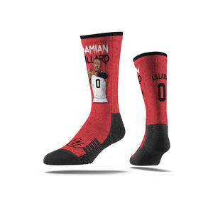 Damian Lillard Dame Time Red Socks