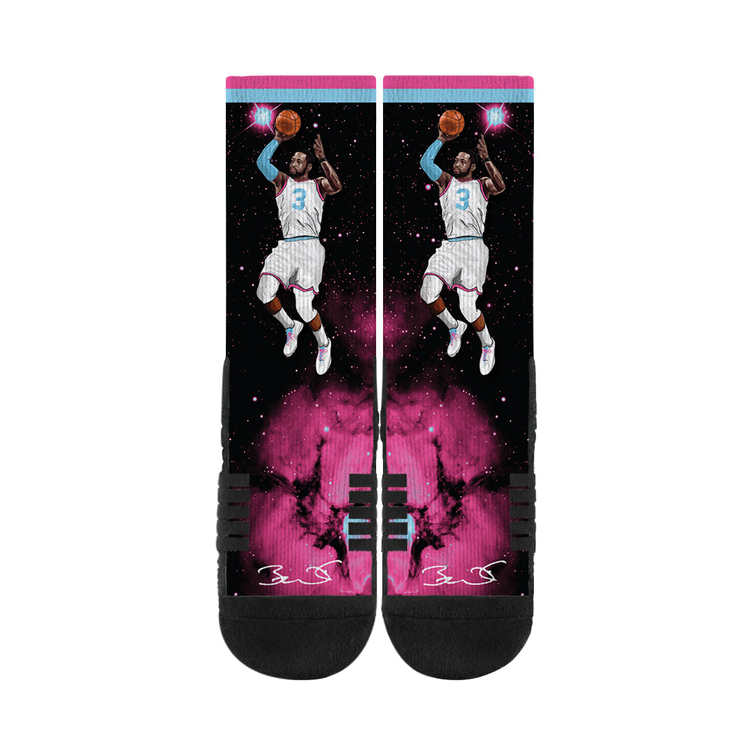 Dwayne Wade Floater Vice Galaxy Black Socks