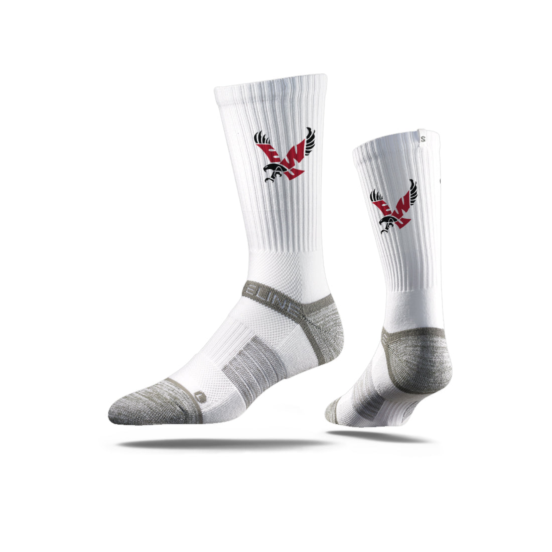 Eastern Washington University White Crew Socks