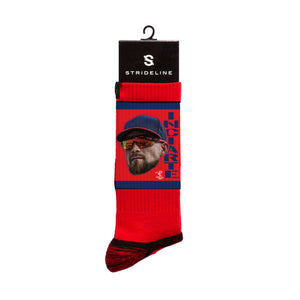 Ender Inciarte Game Face Red Crew Socks