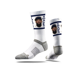 Eric Thames Game Face White Crew Socks