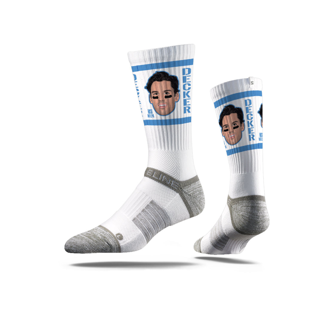Eric Decker Action White Crew Socks