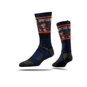 George Springer Bomb Navy Crew Socks