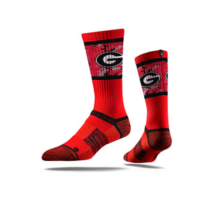 Georgia Bulldog Camo Red Crew Socks