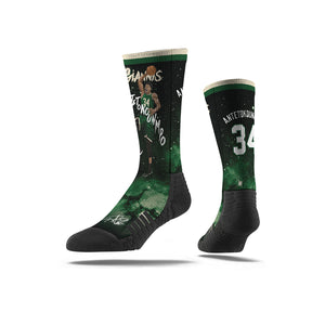 Giannis Antetokounmpo Slam Dunk Galaxy Black Socks