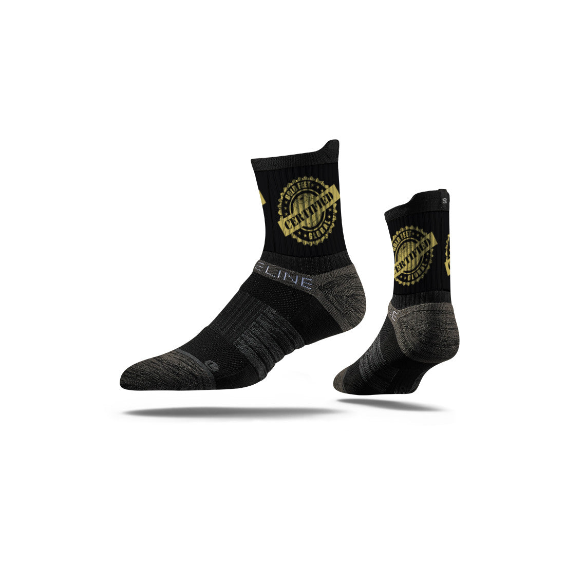 Gold Feet Global Black Mid