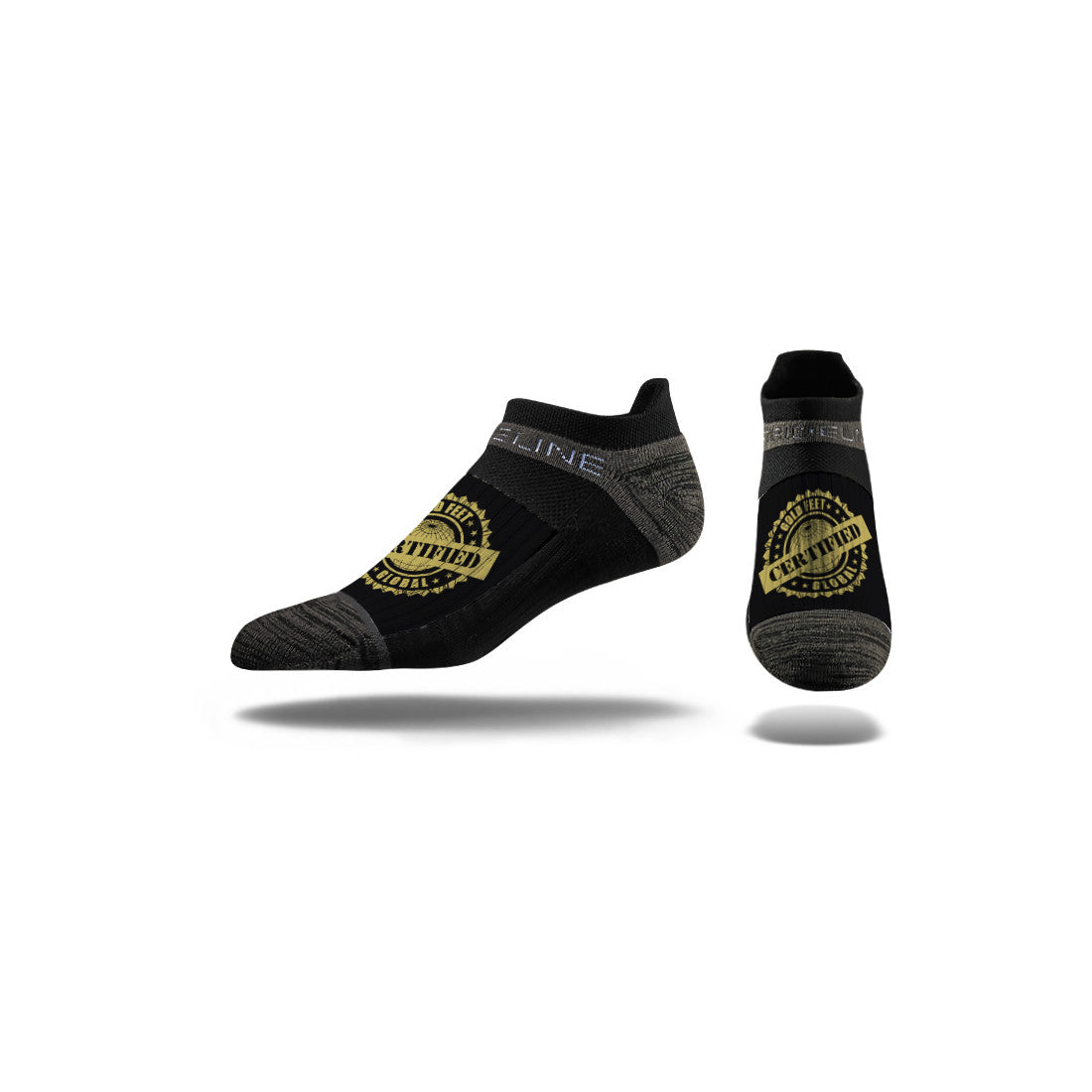Gold Feet Global Black Low