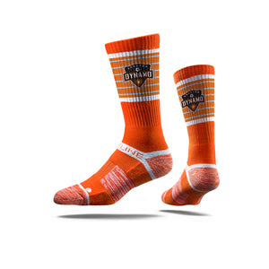 Houston Dynamo Orange Crew Socks N00256964ML