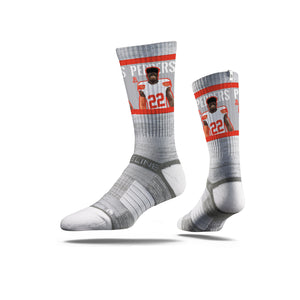 Jabrill Peppers Swag Grey Crew Socks