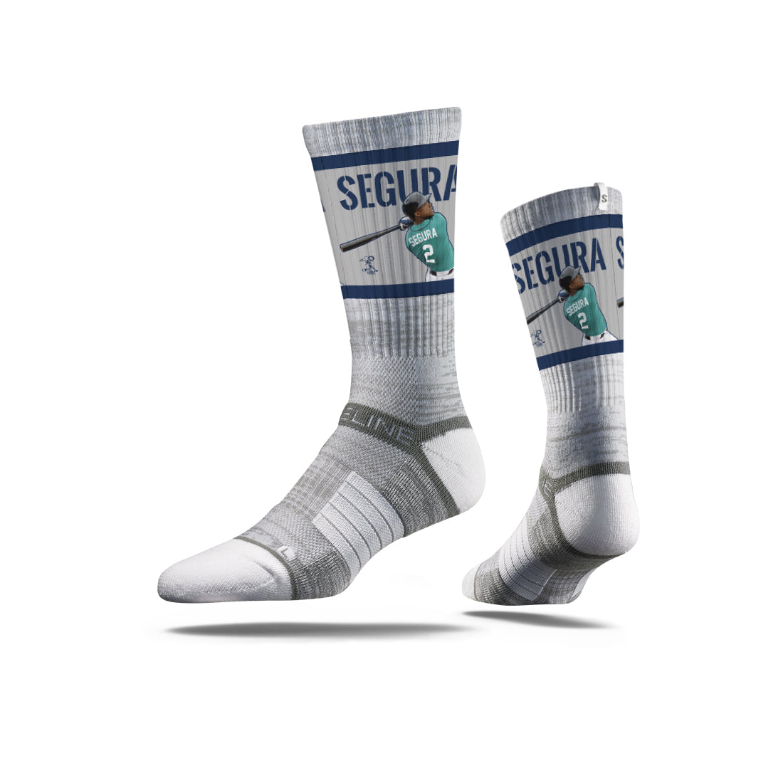 Jean Segura Action Grey Crew Socks