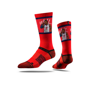 John Wall Flex Red Crew Socks