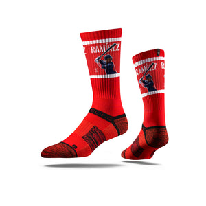 Jos Ramírez Action Red Crew Socks