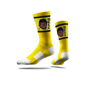 Josh Bell Game Face Yellow Crew Socks