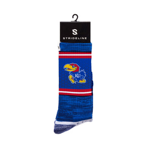 Kansas Jayhawk Blue Crew Socks