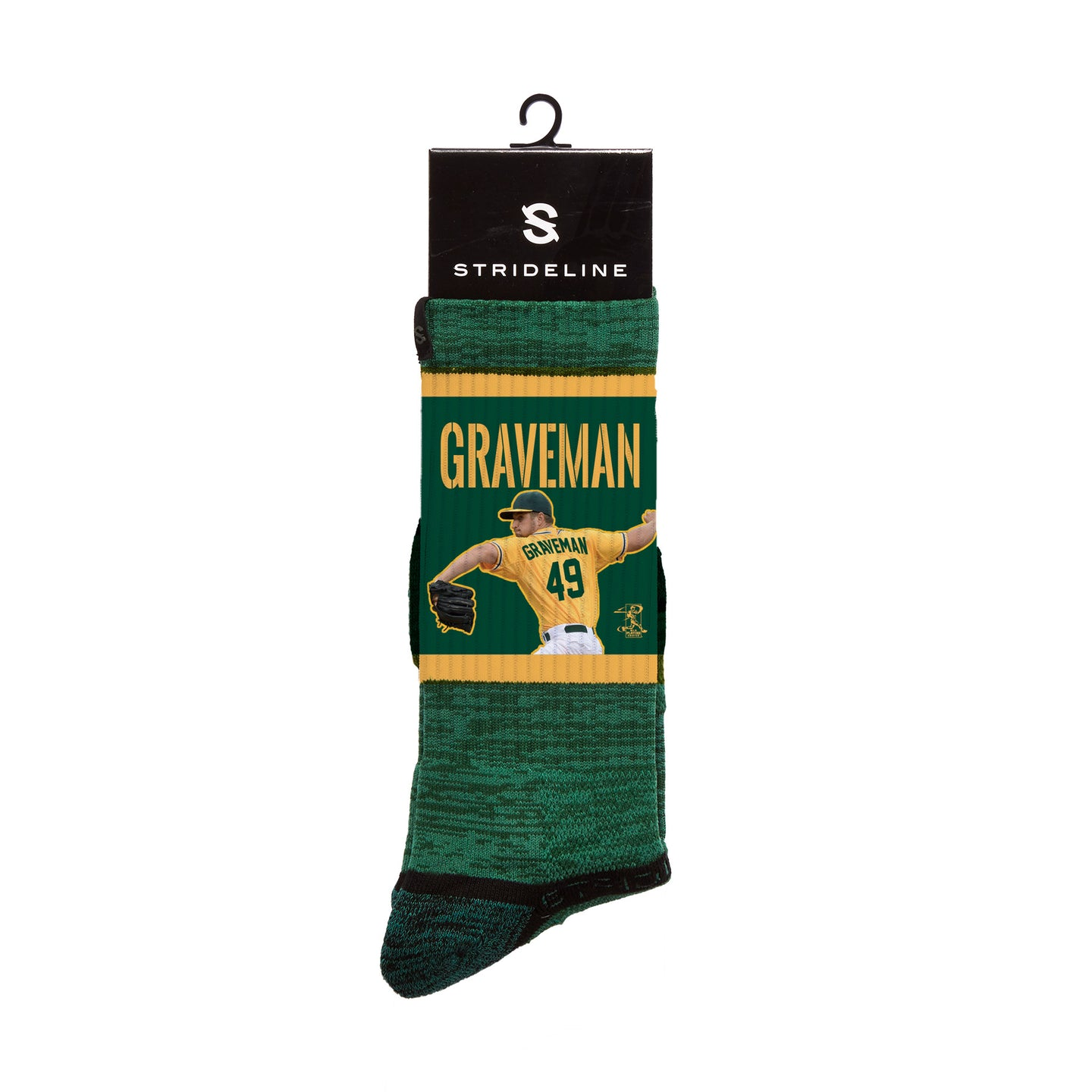 Kendall Graveman Wind Up Green Crew Socks