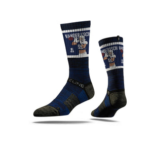 Leighton Vander Esch Pick Six Navy Crew Socks