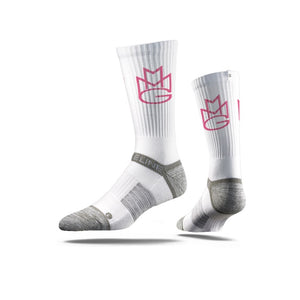MMGPINK White Crew Socks