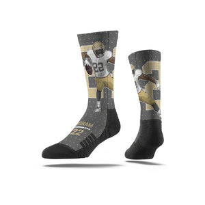 Mark Ingram Jr. TD Spin Grey Socks