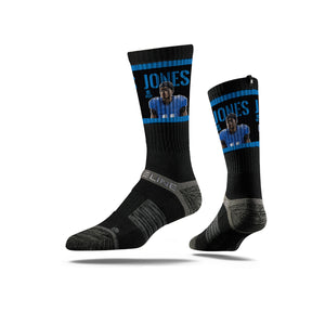 Marvin Jones Action Black Crew Socks